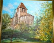 Eglise romane de Chenaud. Dordogne.