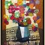 Bouquet au napperon. Jean-Yves Fromangé