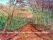 Balade d'automne. Alain Faure En Peinture