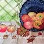Pommes d'automne. Alain Faure En Peinture