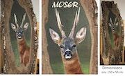 Le brocard. Pastel & Peinture Moser