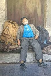 J'irais dormir chez vous, le sdf de Catane en Sicile.