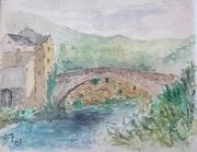 Le Pont-de-Montvert dans les Cévennes.