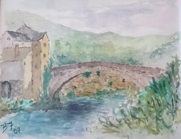 Le Pont-de-Montvert dans les Cévennes.  Bernard Honig