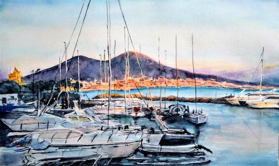 Morning Lights at the Naples Marina. Karine Andriasyan Karine Andriasyan