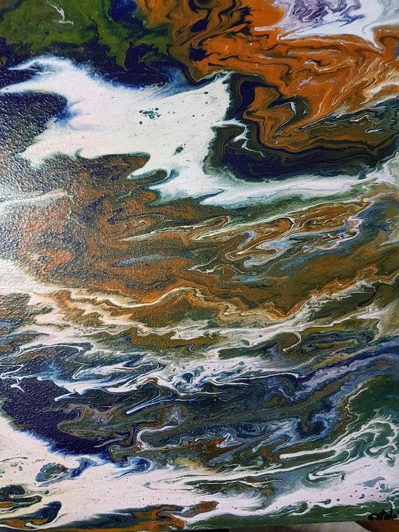 Storm on the sea. Estela Peter Estela
