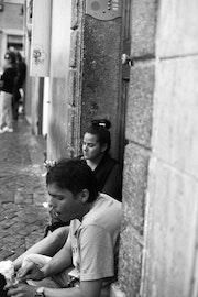 Une pause glace - Rome - Fontaine de Trévise. Lb Photography