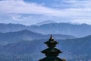 Toit de temple à Bhaktapur.
