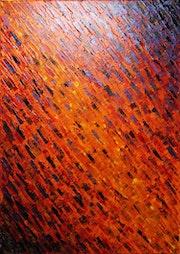 Pintura contemporánea : Textura de cuchillo brasillante..