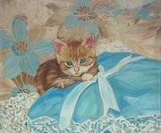 Kitten On a Cushion.
