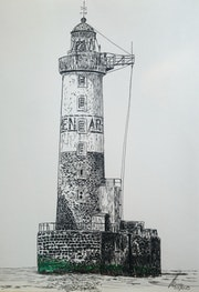 Le phare d'ar men.