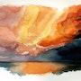 Un ciel d'orage aux couleurs de l'arc en ciel. Claude Beretti