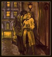 Deux amoureux dans la rue. Pictaveron