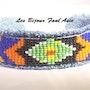 Bracelet en jean tissé motif péruvien. Agnèsm