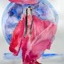 Aquarelle une femme japonaise. Yokozaza