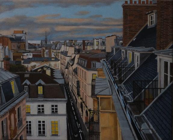 Les toits de rue Hautefeuille, 2019,. Zeven Zeven