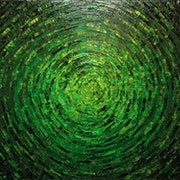 Pintura de cuchillo : Color verde brillante..