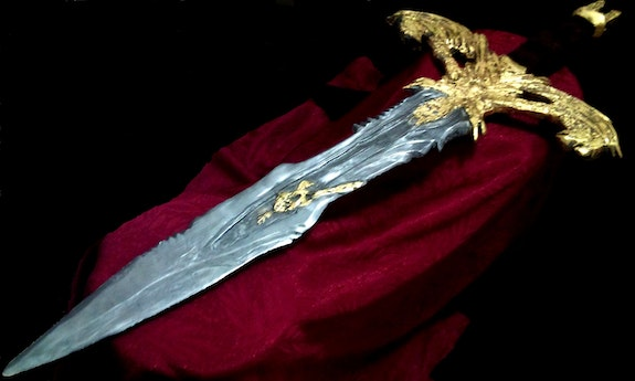 Ultima XIV Sculpted Sword - The most Giant in world - Gold 22k. Angel Piangelo Angel P.