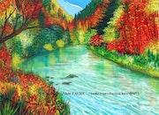La riviere pourpre. Alain Faure En Peinture