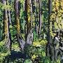 Troncs de vieux mélèzes. Catherine Souet-Bottiau
