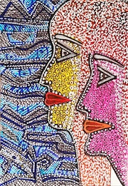 Art in Israel drawings couples modern artist. Mirit Ben-Nun