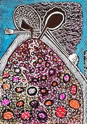 Israel art Israel couple drawings modern art. Mirit Ben-Nun