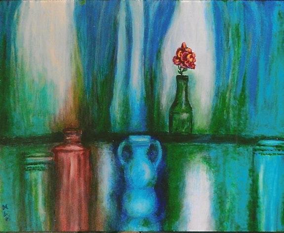 Still Life with Flower. M. L. Harrell Martha Harrell