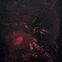 Rouge et noir abstrait acrylique hommage. Sculpeinteconceptdany