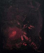 Rouge et noir abstrait acrylique hommage.