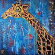 Girafe bleue.