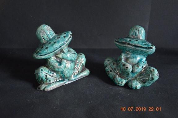 Les grenouilles : Raku turquoise. Daniel Cagnat Daniel Cagnat