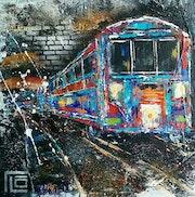 Le metro bleu. Flo Artiste Peintre