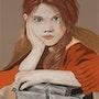 Bouderie de petite fille !. Anny Burtscher-Beaudoin