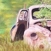 Mythique 4cv Renault abandonnée !. Anny Burtscher-Beaudoin
