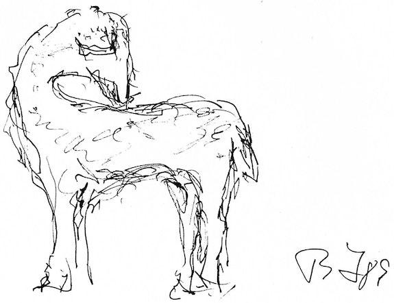Mouton timide.  Bernard Honig