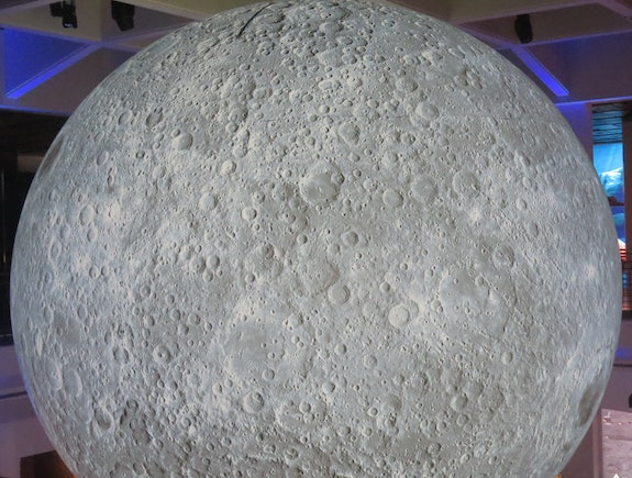 The surface of the moon with crater marks. Angelina Heart Angelina Heart