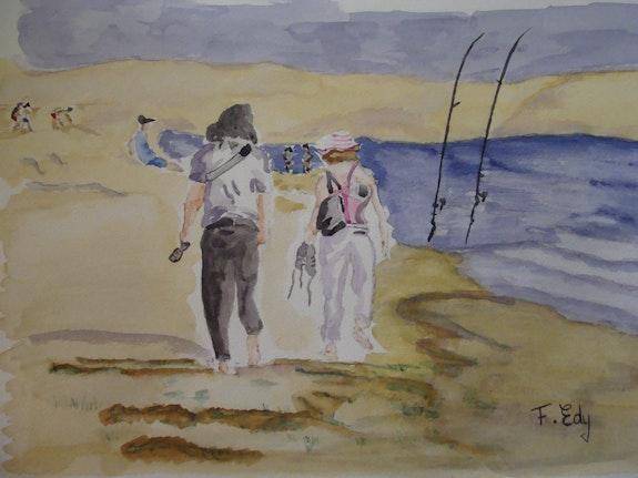 Bord de plage. Edy Frédéric Fredessin