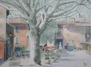 Petite place en Provence. Claude Menge