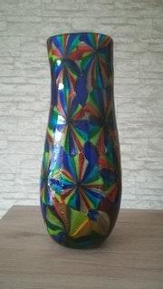 Vase, «Stellato», Murano, Ausf. Und Entw. : Gabriele Urban (Mastro vetraio), Neuzeitlich.