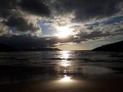 Atardecer en una playa de la costa Lucense.