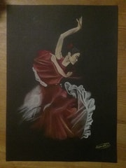 Danseuse de flamenco.