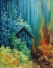 Cabane bleue.