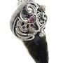 Steampunk Obsidian Arrowhead Pendant. Heather Jordan Jewelry