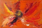 Abstrait «Fleur volcanique».