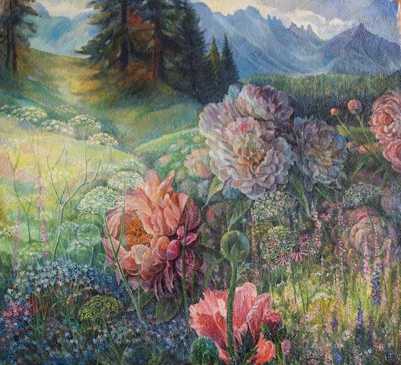 Wild peonies. Sergey Lesnikov Sergey L