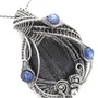 Trilobite Fossil Wire-Wrapped Pendant with Blue Kyanite in Sterling Silver. Heather Jordan Jewelry