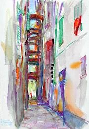 Vernazza, Via Caruso (2006). Hajo Horstmann