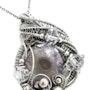 Amethyst Stalactite Slice Druzy & Herkimer Diamond Wire-Wrapped Pendant. Heather Jordan Jewelry
