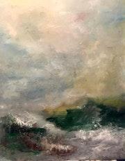 Ciel grils sur la mer du nord. Christian Peyric