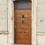 Porte authentique d un ancien debitant. Marquant Francis